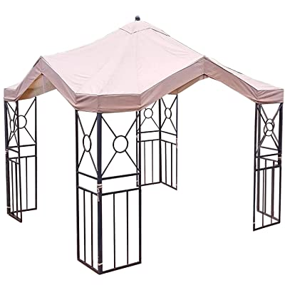 Garden Winds Deluxe Pagoda Gazebo Replacement Canopy Top Cover and Netting - RipLock 350: Garden & Outdoor