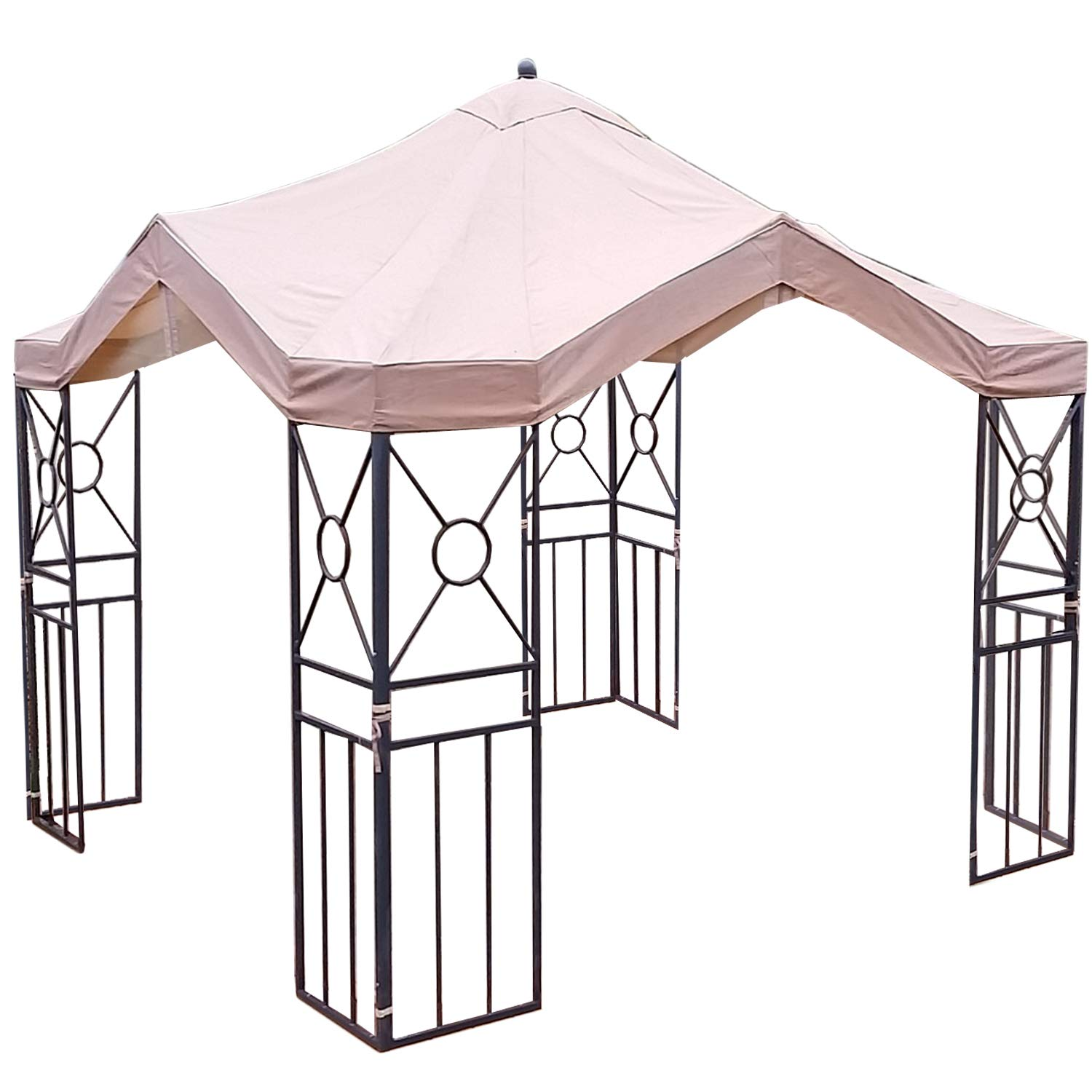 Garden Winds Replacement Canopy for Deluxe Pagoda Gazebo, RipLock 350