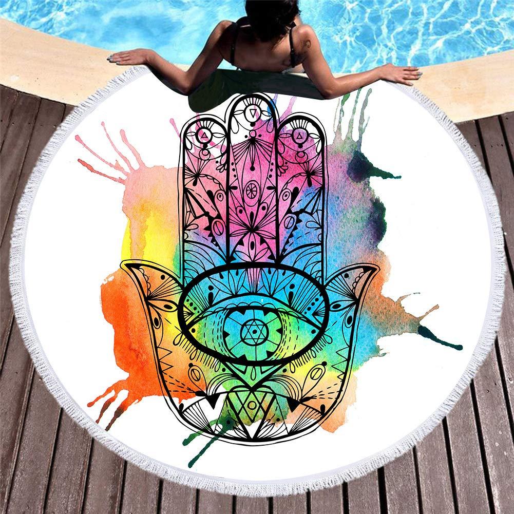CYYCY Toalla de Playa Redonda estupenda Impresa Toalla de Playa de ...