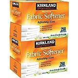 Kirkland Signature Premium Fabric Softener Sheets, Refreshing Scent 250 CT (Pack of 2)