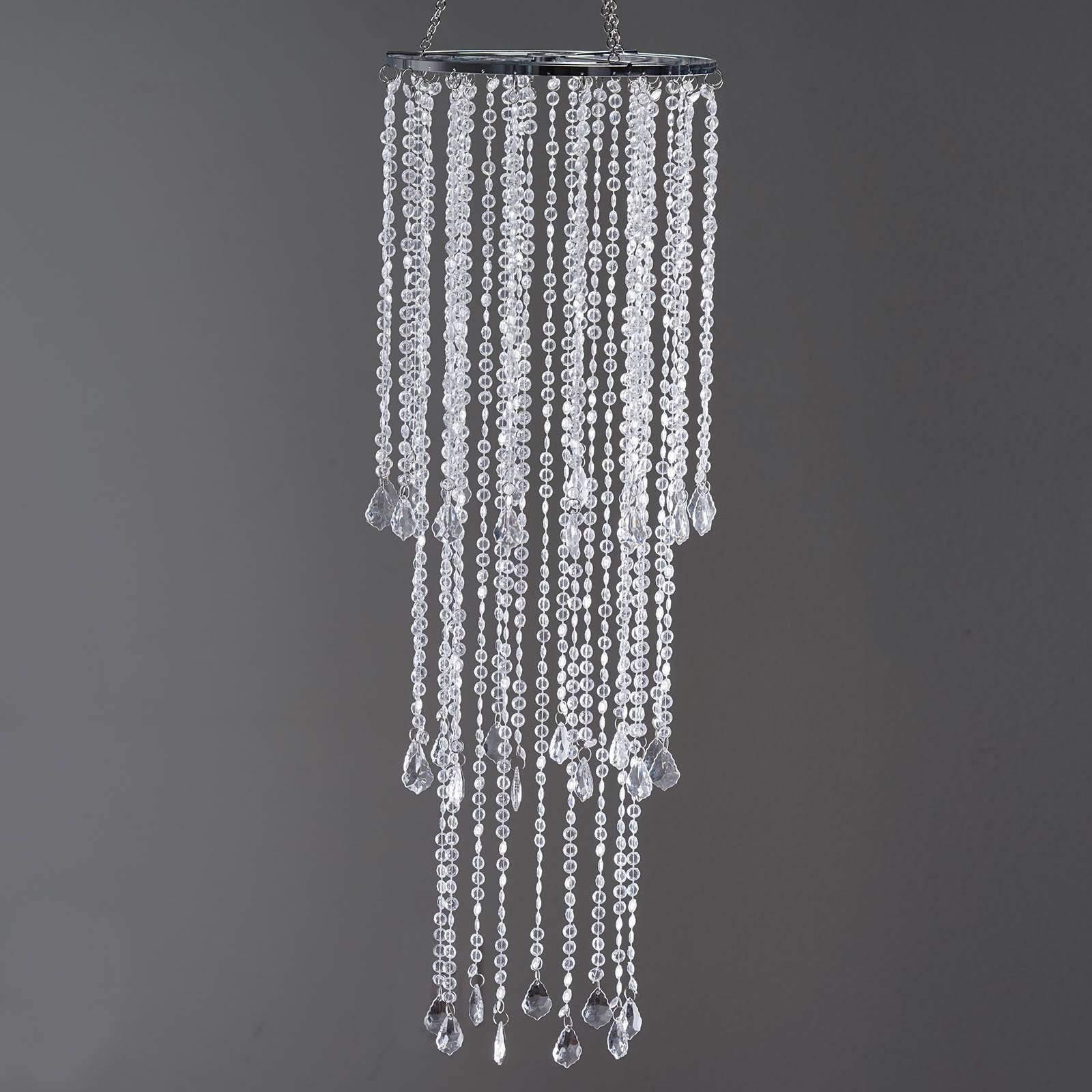 Efavormart 36'' Tall Acrylic Diamond Crystal Chandelier Wedding Table Centerpiece W/Stands