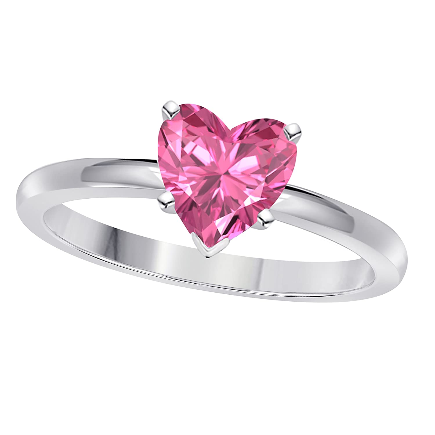 Valentine day Special !!! 1.00CT Heart Shape Brilliant Cut Lab ...