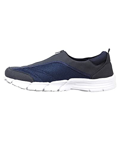 Cotton Traders Lightweight Zip-up Shoes Unisex Trainer Ladies Womens Mens E  Fit Navy 12UK