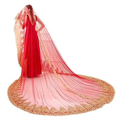 Red Wedding Veils