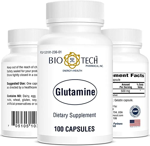 BioTech Pharmacal – Glutamine – 100 Count