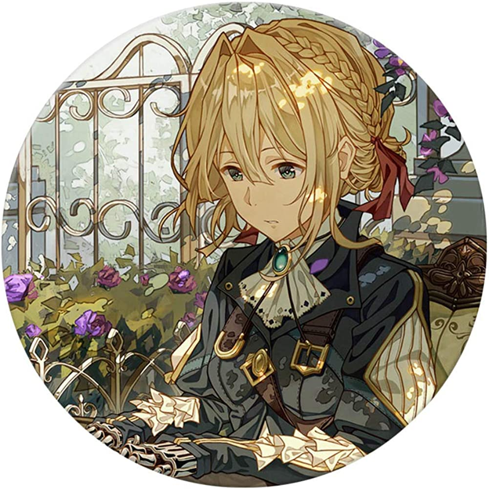 4H03 CAR-TOBBY Anime Violet Evergarden Pendentif Acrylique Porte-cl/és Porte-cl/és T/él/éphone Charme Cosplay