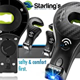 Starling's Headrest Hooks for Car with Light - Back Seat Organizer Hanger Storage Hook Car, SUV (Set of 2) Black, Purse Hook for Car Handbag Clothes Umbrellas Coats Grocery Bags BATTERIES ARE INCLUDED