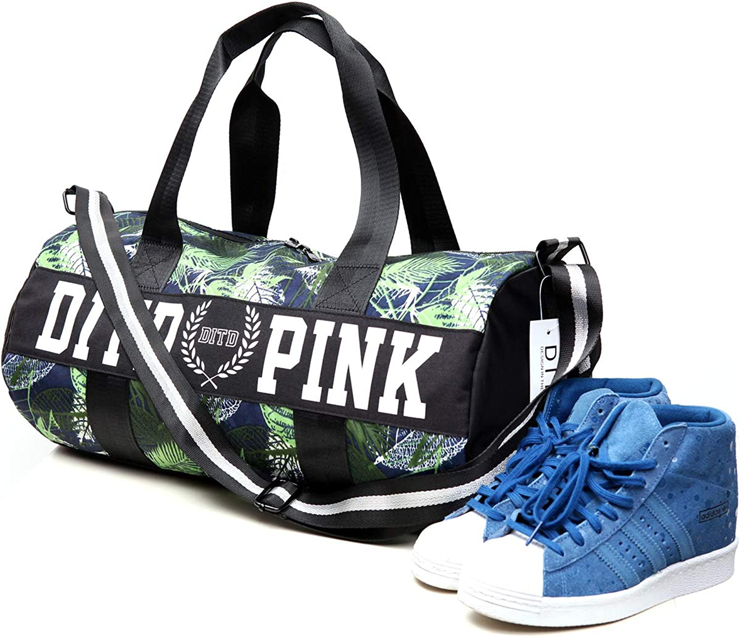 Sports Gym Bag with Shoe Compartment Lightweight Luggage Travel Duffel Bag Weekender Bag for Men Women