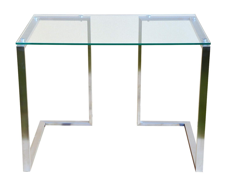 CHYRKA® Bürotisch Computertisch Beistelltisch Edelstahl Schminktisch Moderne Design Glas Glas Glas Schreibtisch (120x60 cm) 6c37fb
