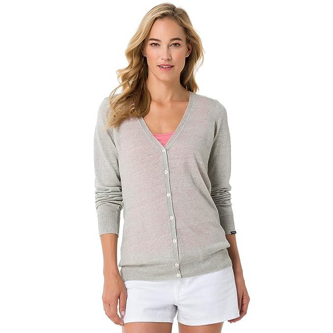Gaastra Sandy-chaqueta punto Mujer gris XX-Large: Amazon.es ...