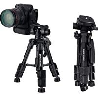 Jmary 2203 Professional Aluminium Alloy Tripod Stand with 3-Way Swivel Pan Head for All DSLR Cameras,Specially Designed for Micro Photography. Min Height - 31 cm + Free Mobile Holder & Remote