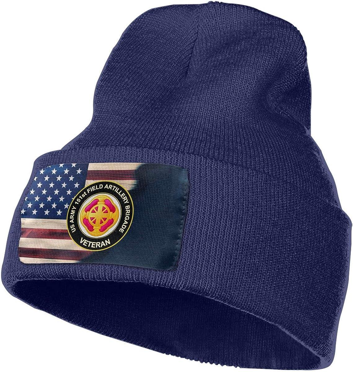 FORDSAN CP US Army 151st Field Artillery Brigade Veteran Mens Beanie Cap Skull Cap Winter Warm Knitting Hats.