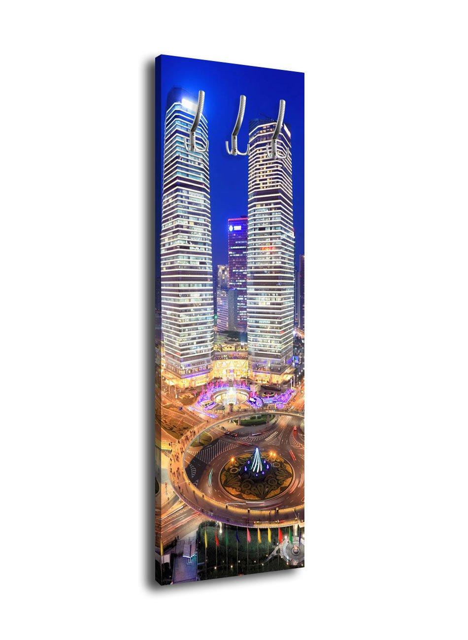 wandmotiv24 Perchero con diseño Shanghai de Noche g172 40 x ...