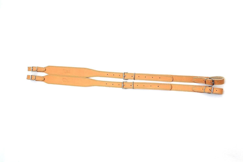 Paire de bretelles courroies en cuir, simples et réglables pour accordéon 80-120 marron