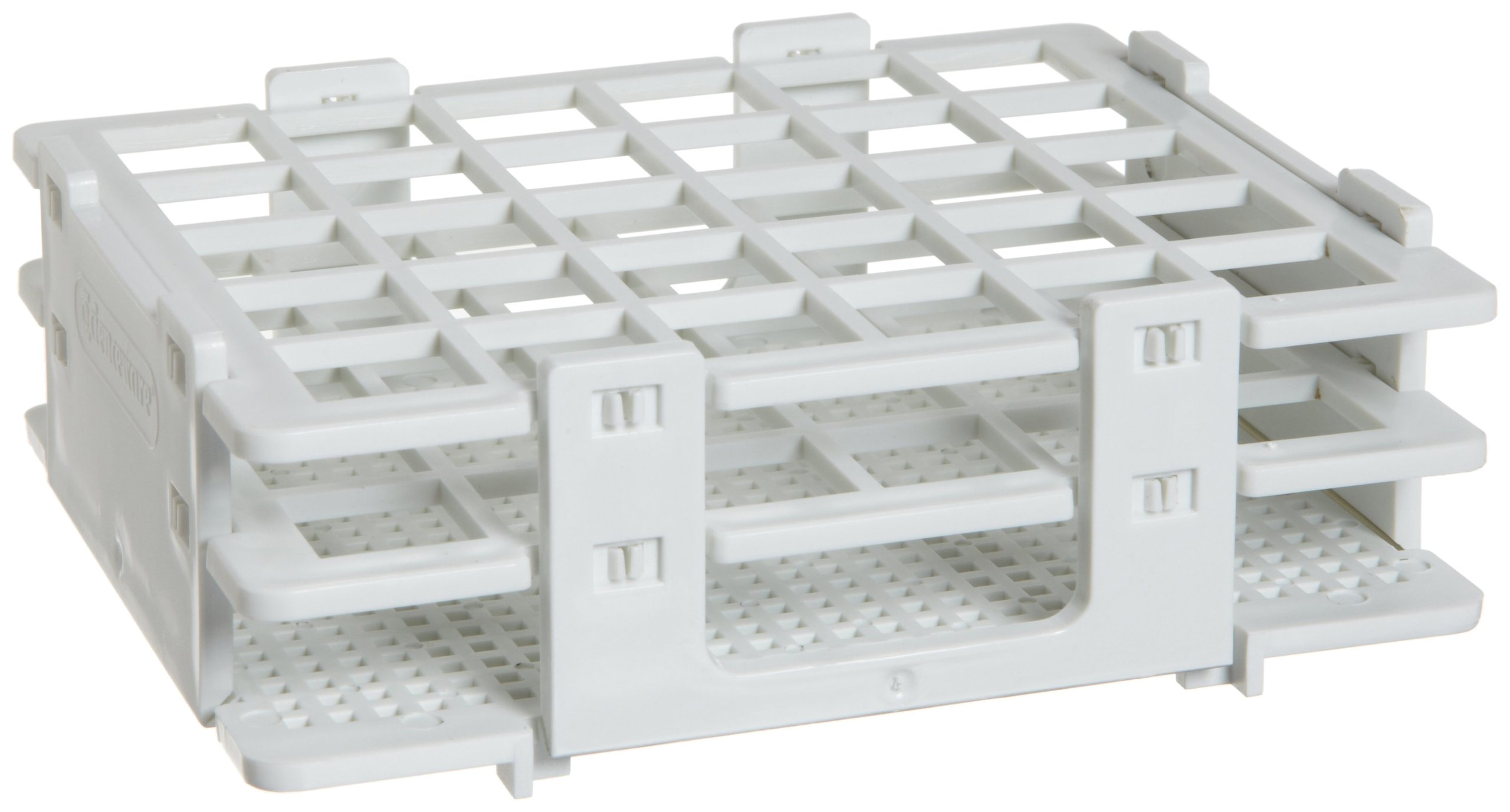 Bel-Art F18514-0016 No-Wire Bottle and Vial Rack; 13-16mm, 30 Places, 5.08 x 4.15 x 1.70 in., Polypropylene