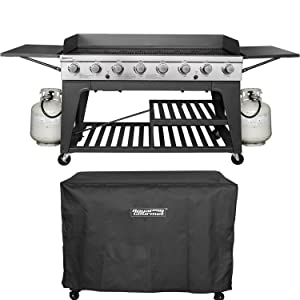 Royal Gourmet Event 8-Burner BBQ Propane Gas Grill with Cover, Picnic or Camping Outdoor