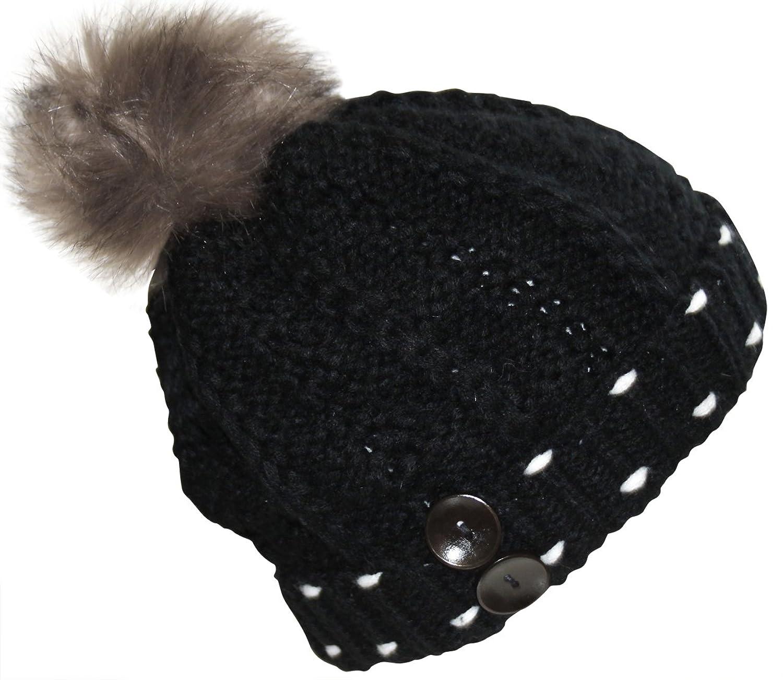Damen Mütze, Herren Mütze, Unisex, Wintermütze, Schwarz, Weiß, Braun, 100% Viskose, Ski-Mütze mit hervorragenden Anwendungen
