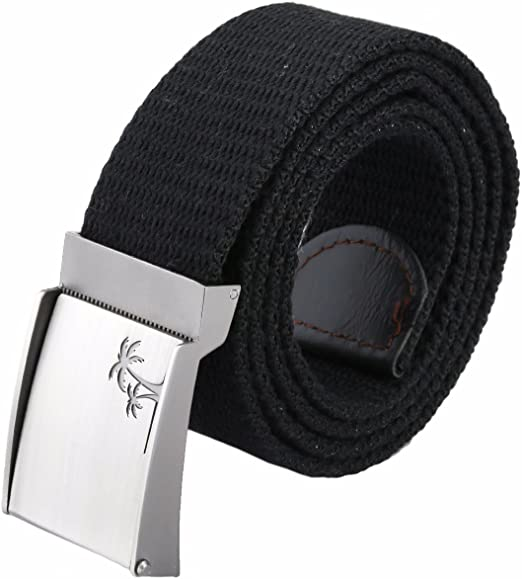 Men/'s 2-in-1 Reversible Canvas Web Belts 2-Pack Cut-to-Fit up to 42/'