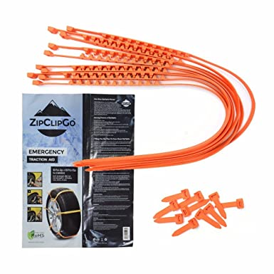 zipclipgo cadenas de nieve vida seguridad para coches camiones rueda cadena zipclipgo emergencia tracción ayuda rueda