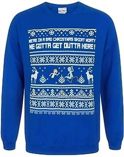 Rick And Morty Happy Human Holiday Ugly Christmas Sweater Amazonco