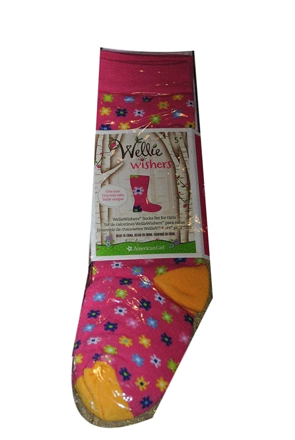 Amazon.com: American Girl Wellie Wishers Knee Socks for Girls All 5 Pair Welliewishers 9-12: Clothing