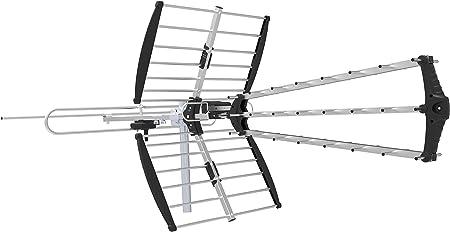 HDTV 4K UHD Antena de TV digital exterior de larga distancia. Recepción FM UHF VHF de alta definición de largo alcance, rendimiento total de la casa ~ ...
