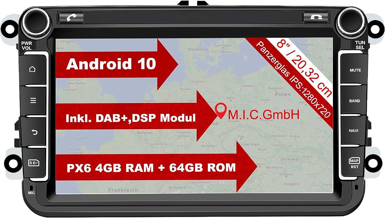 M I C Av8v6 Android 10 Autoradio Mit Navi Ersatz Für Elektronik