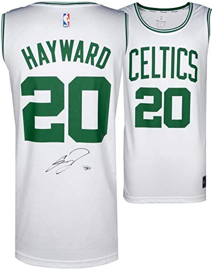 save off 2d5d9 c2446 Gordon Hayward Boston Celtics Autographed Fanatics White ...