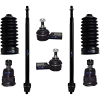 ROADFAR Front Control Arms Ball Joints and Tie Rod End Sway Bar Compatible fit 1996 1997 1998 1999 2000 Honda Civic Suspension Set of 10 10