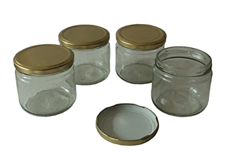 10c9402fe008 Pure Source India 150 Gm Clear Glass Jar,Set Of 4 Jar , (Size 3 X 3 Inch )