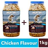 Meatup Chicken Flavour, Real Chicken Biscuit, Dog Treats -500g Jar