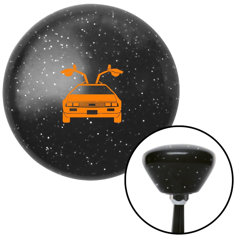 Orange Delorean Black Retro Metal Flake with M16 x 1.5 Insert American Shifter 287352 Shift Knob