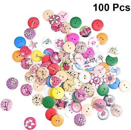 10 Pcs Plastic Flower Buttoms 2 Holes for Garment Scrapbooking DIY Craft 20mm