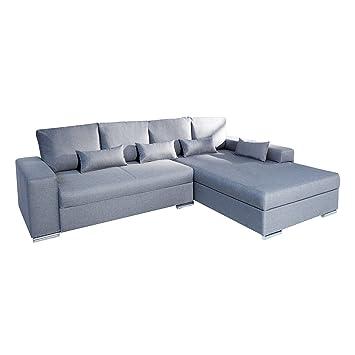 Sofa Vincenza Hellgrau Mit Bettfunktion Schlafsofa Couch Wohnzimmer