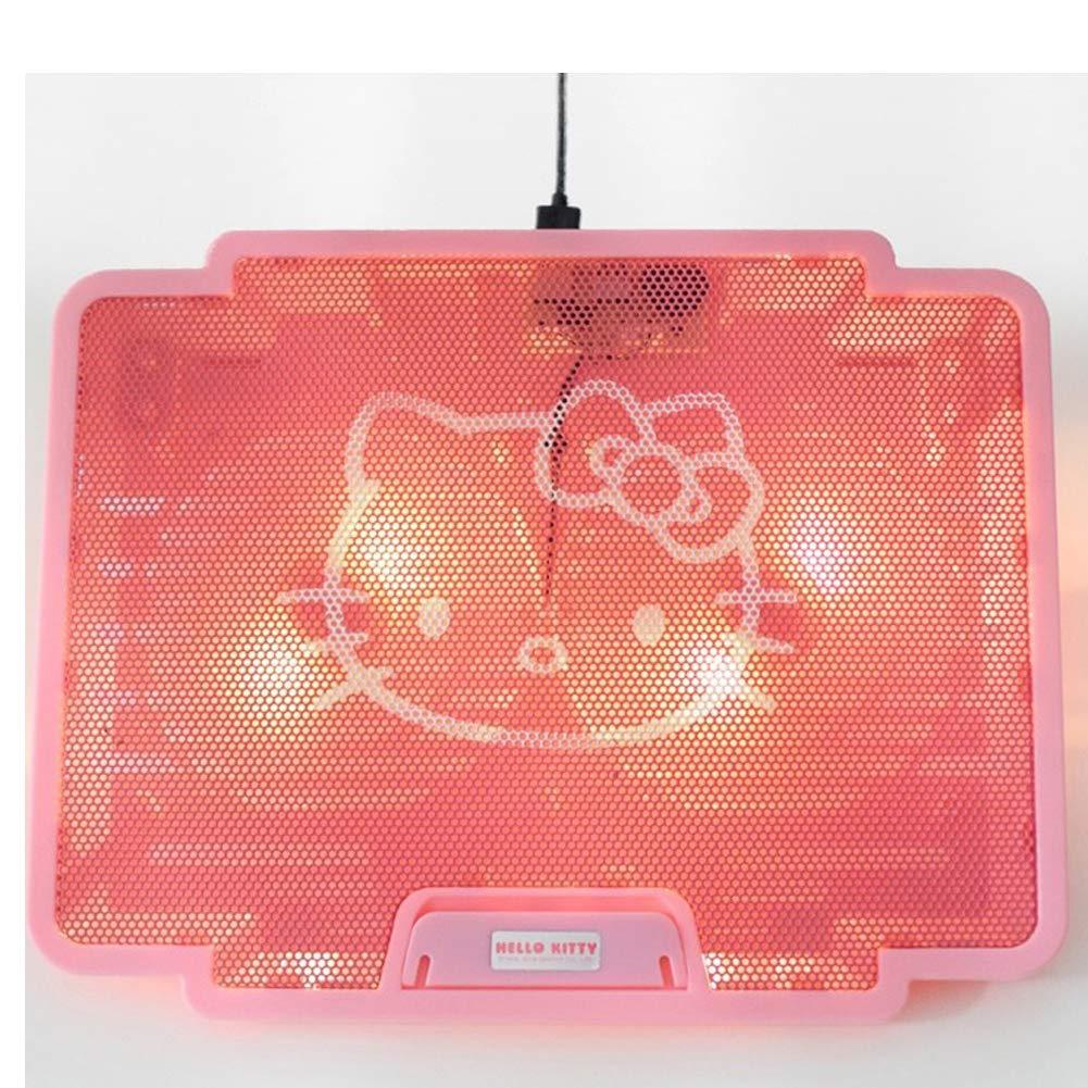 Design Ventus Hello Kitty - Soporte portátil para Ordenador portátil con 2 Ventiladores alimentados por USB, luz Trasera LED: Amazon.es: Electrónica