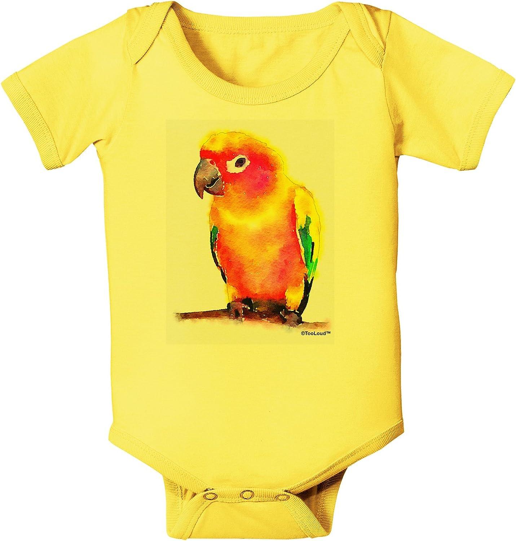 TooLoud Sun Conure Parrot Watercolor Infant T-Shirt Dark