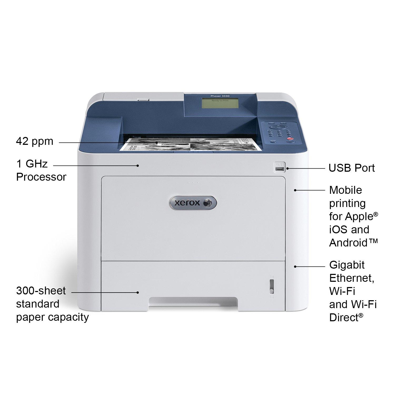 Xerox Phaser 3330/DNI Monochrome Printer, Amazon Dash Replenishment Enabled by Xerox (Image #2)