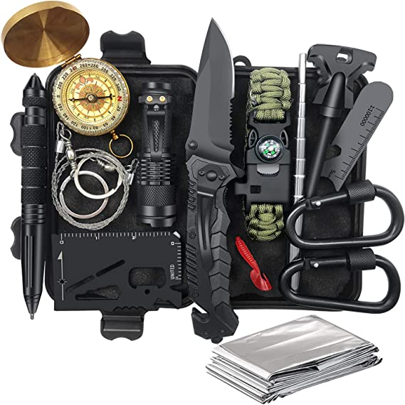 Gifts for Men Survival Gear and Equipment 14 in 1