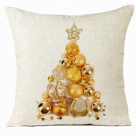 Fundas de Cojines 45x45 cm Bolas de Navidad Funda de ...