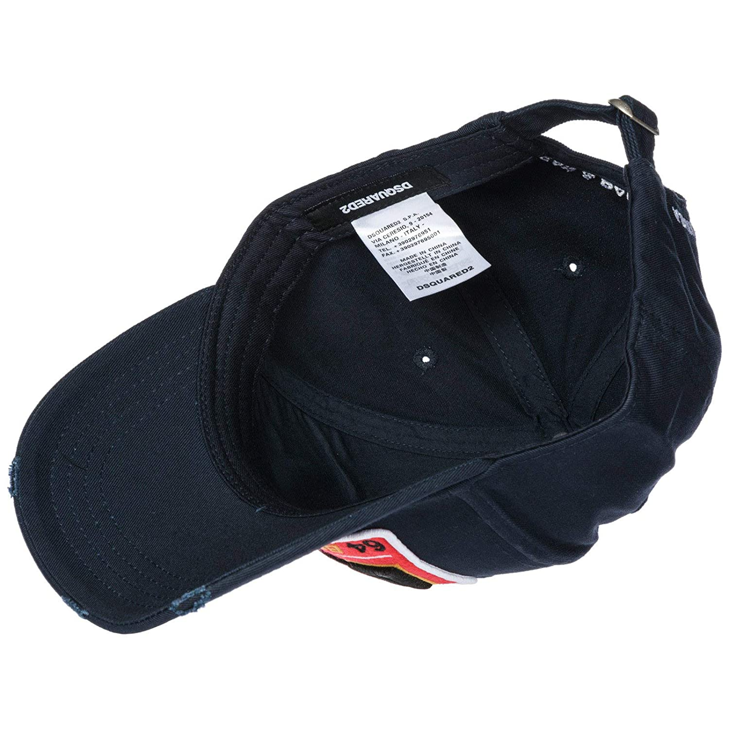 3492caff2d529a Dsquared2 Men DSQ Brothers Baseball Cap Navy: Amazon.co.uk: Clothing