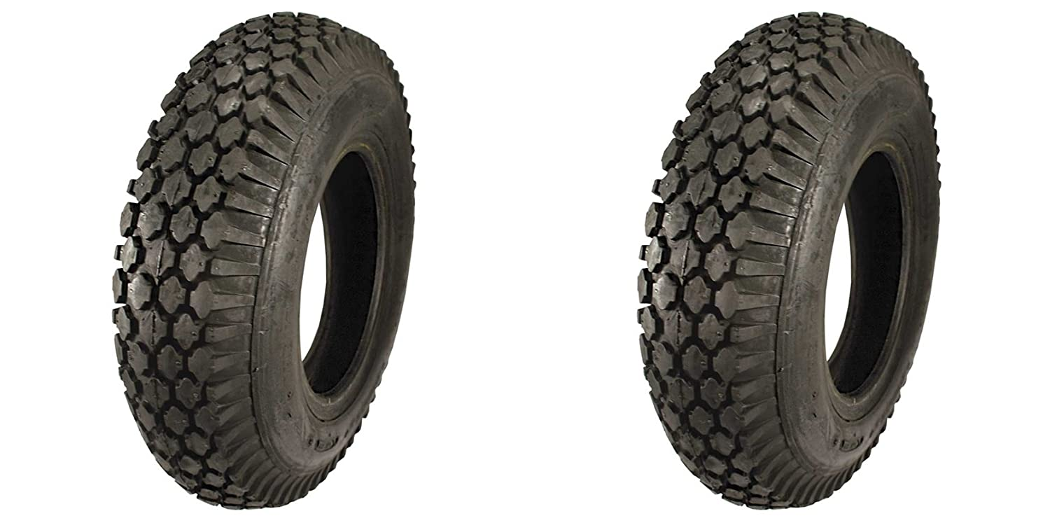 LOT OF TWO (2) Tire Geek Brand 4' 4.10/3.50-4 4 Ply Rated Tubeless Stud Tires DSTM