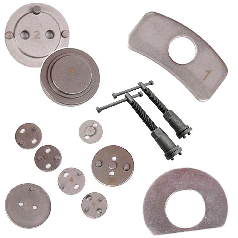 Material: C45 steel Brake Caliper Tool Set Brake Repair Tool Kit with Red case 21 Parts Case size: 31 x 21.5 x 6 cm Todeco