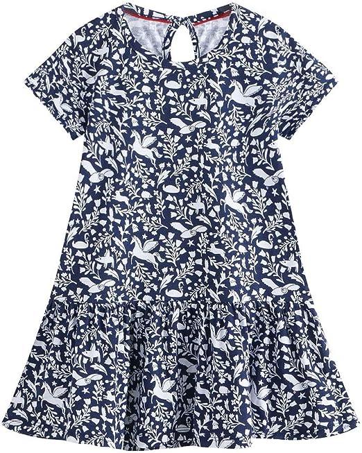 Vestido de verano lindo de las niñas Vestido de camiseta de ...
