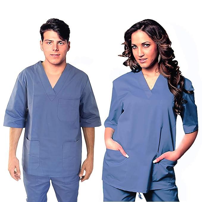 Fratelliditalia Divisa OSPEDALIERA 100/% Cotone Casacca Pantalone Scollo AV Unisex Colori A Scelta