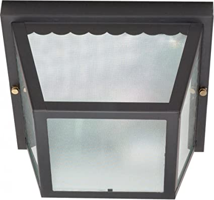 Nuvo 60/473 Metal Frame Carport Flush Mount with Textured Frosted ...