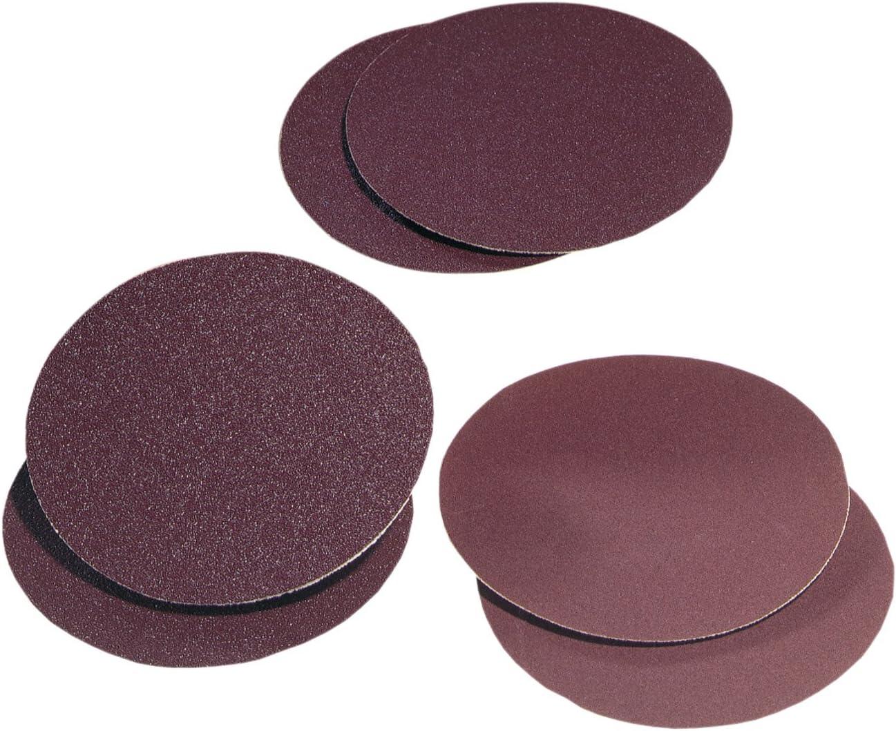 Delta 8 inch 80 Grit Aluminum Oxide Sanding Adhesive Disc 2 Pack Sandpaper Discs