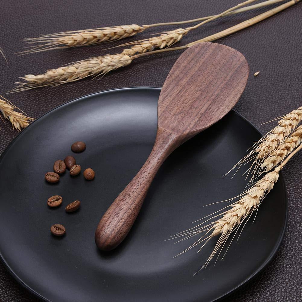 Wood Non-Stick Shovel Pan Rice Spoon Kitchen Cookware Wooden Spatula-A