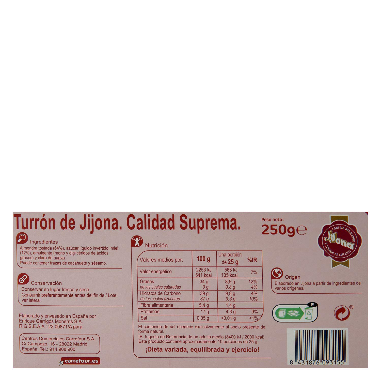Carrefour Soft Jijona Nougat Español 8.82 oz – 5 unidades ...