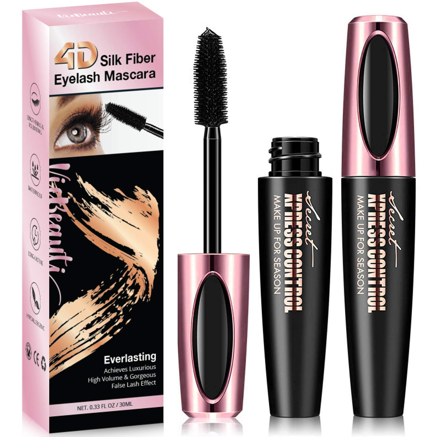 27ba3f7b1e5 VieBeauti ULTIMATE 4D Silk Fiber Lash Mascara Adds Length, Depth and  Glamour Effortlessly – Waterproof