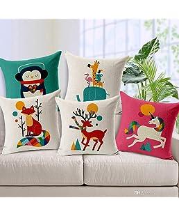 swasiya ™ Jute Cushion Cover (Multicolour,16x16)-Set of 5